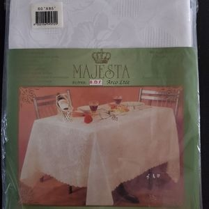Never Opened! Vintage White Table Cloth!